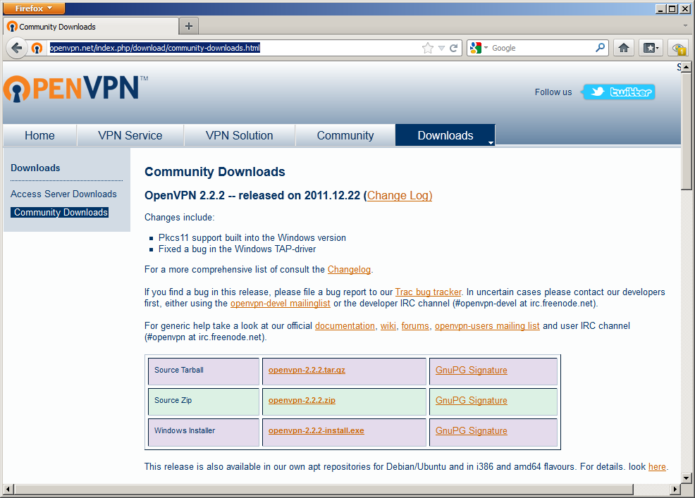 CrossConnect » VPN: OpenVPN for Windows