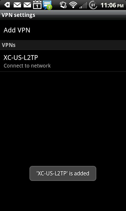 CrossConnect » VPN: L2TP + IPSec for Android Devices